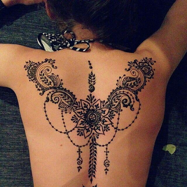 Mehndi Tattoo Espalda : Wow beautiful henna tattoos pinterest tatuajes