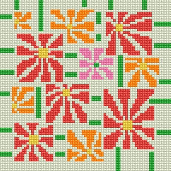 Garden Zinnias Pattern: Garden Zinnias - free pattern