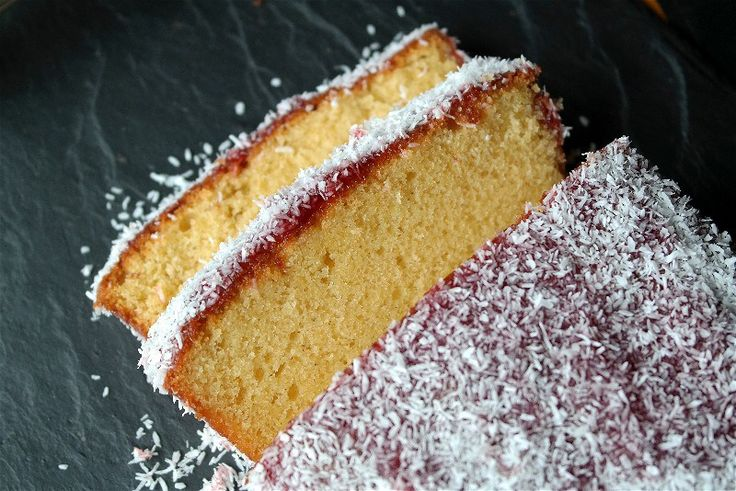 Jam and Coconut Sponge