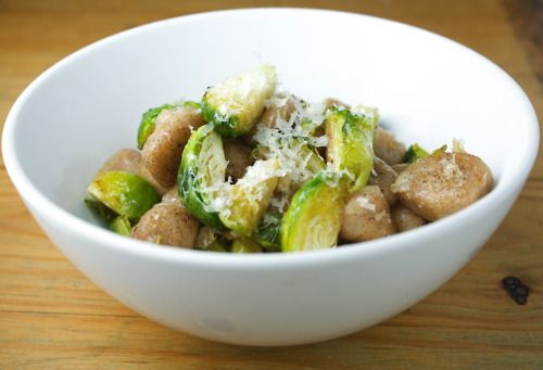 Whole Wheat Gnocchi with Roasted Brussels Sprouts and Lemon Garlic ...