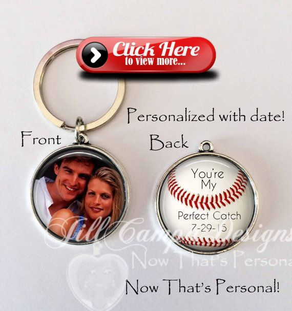 ANNIVERSARY GIFT for boyfriend husband personalized with your date- baseball theme You're My Perfect Catch by NowThatsPersonal