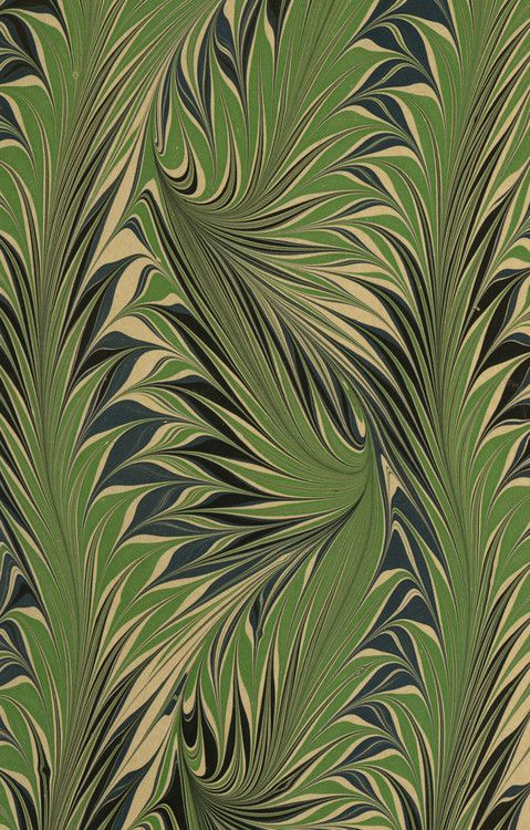 Modern marbled paper, Whirl pattern, 20th century