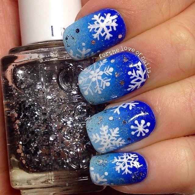 snowflakes by fortheloveofnails_ #nail #nails #nailart