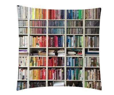 Book Shelves Printed Cushion Cover & Cushion FILLERS