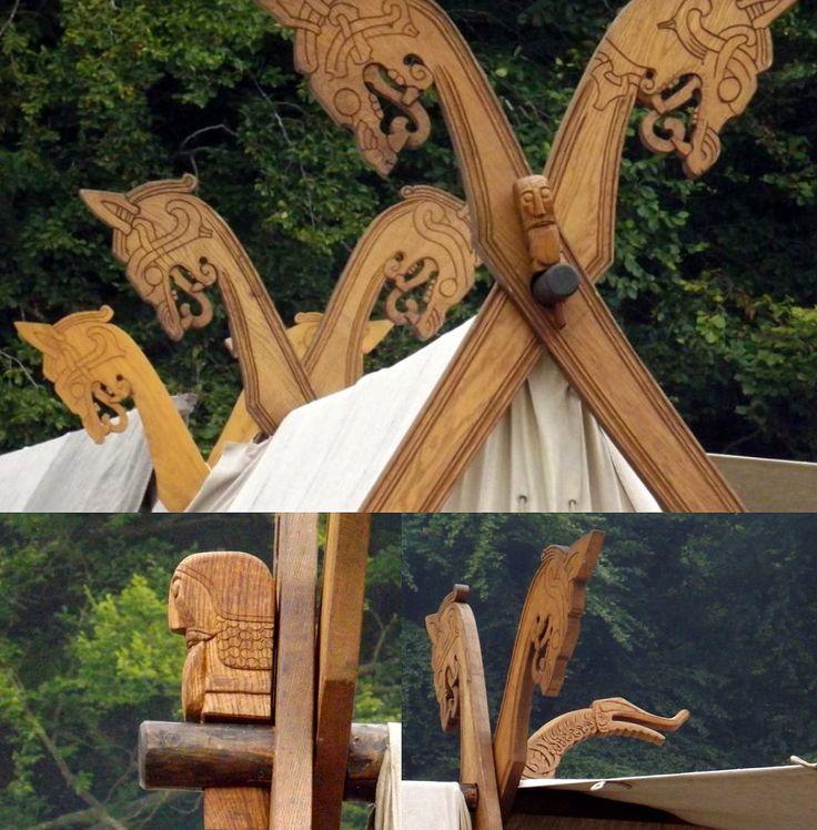 Moesgard Viking Tent Posts. https://vikingladyaine.wordpress.com/2013/11/24/moesgard-viking-camp/