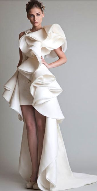 This dress is an example of decorative design because, if you remove the ruffles you would still have a full dress.