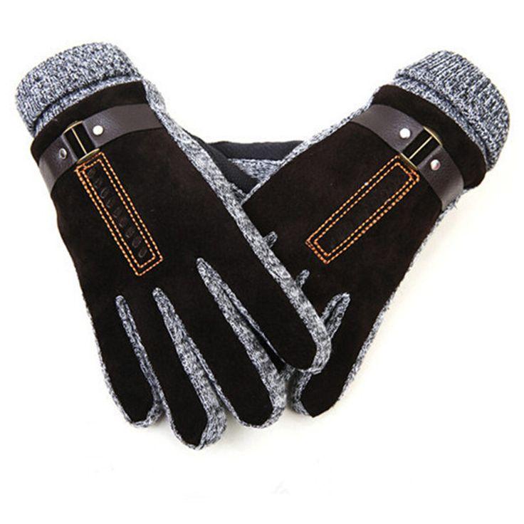 Зимние перчатки мужчин из натуральной кожи перчатки корея стиль мужская свинья кожа мягкая перчатки мужчины зимние рукавицы