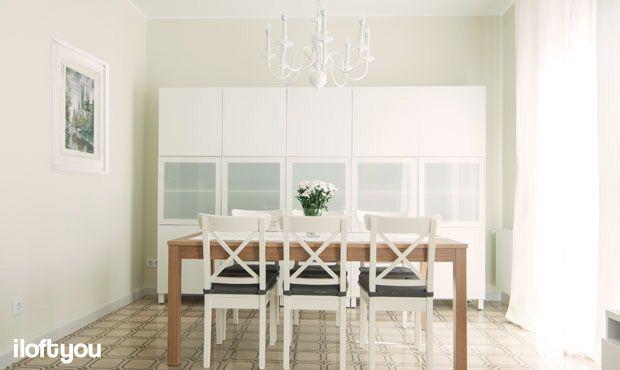 #proyectorossello #iloftyou #interiordesign #barcelona #lowcost #catalunya #después #livingroom #diningroom #salon #comedor #ingolf #besta #lack #bjursta #merete #osted #hidraulictiles #baldosahidraulica