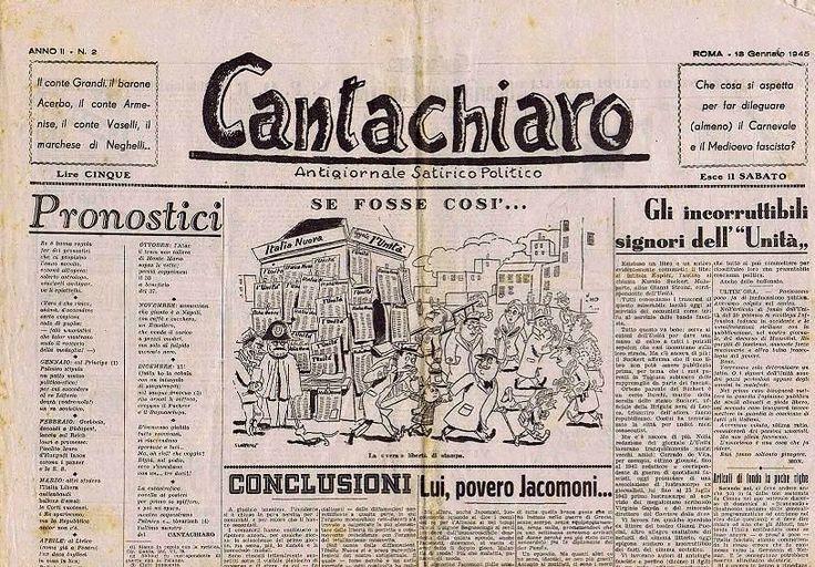 "Pietro Garinei and Sandro Giovannini's satirical weekly magazine ""Cantachiaro"": ""If it was so..."" (18th January 1945)."
