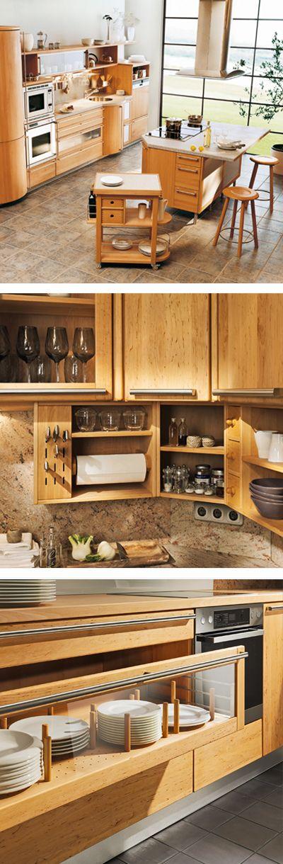 Natürliche Holzküche in elegantem Design von TEAM 7