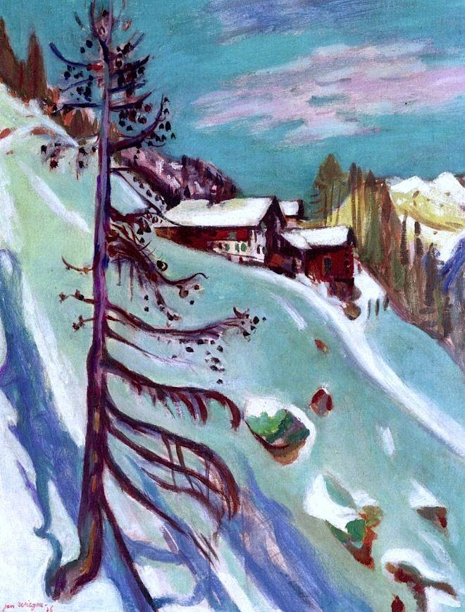 Mountain Panorama with Pine Tree Jan Wiegers - 1936