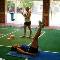 Parents are getting into shape thanks in part to four Murdoch University Exercise Physiology students.
