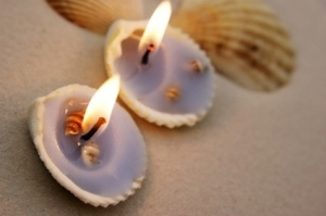 Beach Party - Seashell Candle Holders
