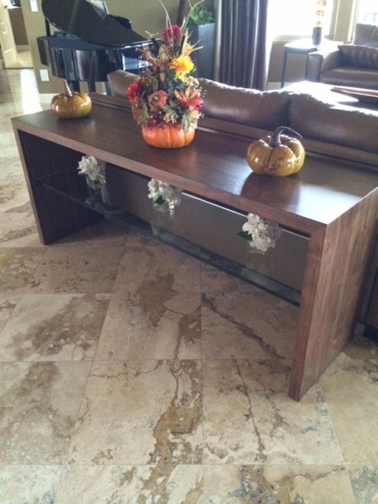 Handcrafted reclaimed wood sofa table by Peter Thomas Designs in Phoenix,  AZ. Custom handcrafted