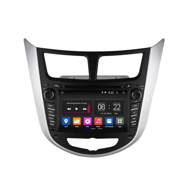 HD 1024x600 estéreo de cuatro núcleos para Android GPS unidad principal de navegación de radio wifi 2g RAM Ownice c180 ol-7797b reproductor de DVD Hyundai Verna Solaris acento