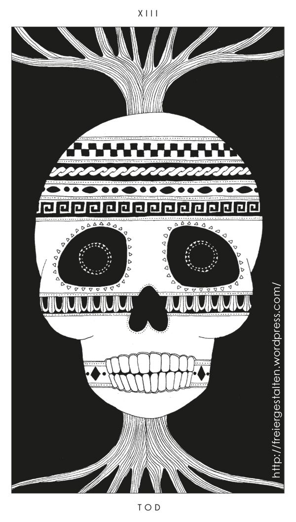 "http://freiergestalten.wordpress.com/ Death (XIII) One of my Tarot cards from my ""Eclectic Tarot"""