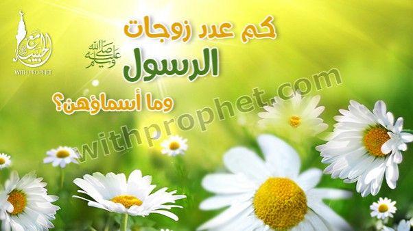 كم عدد زوجات الرسول محمد وما أسماؤهن Allah Plants