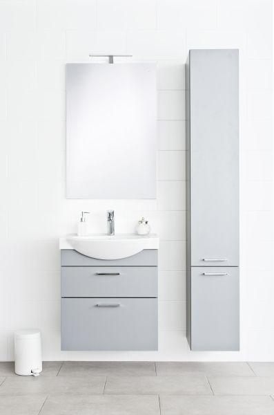 Renova Plus -kalusteiden ovien värivaihtoehdot ovat valkoinen ja tummanharmaa.