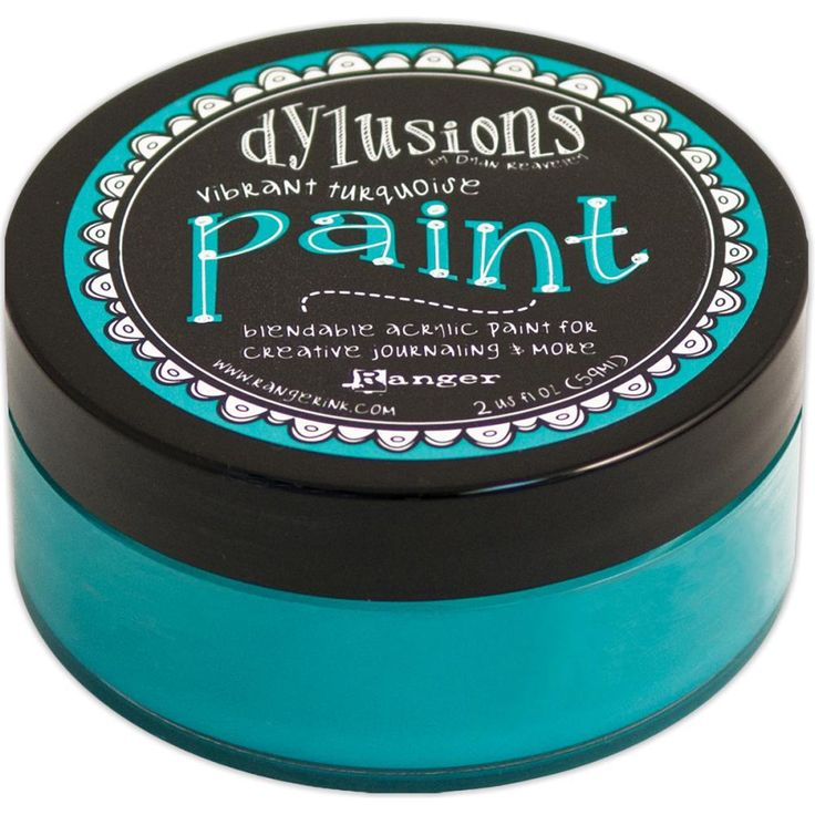DR Dylusions Acrylic Paint Vibrant Turquoise