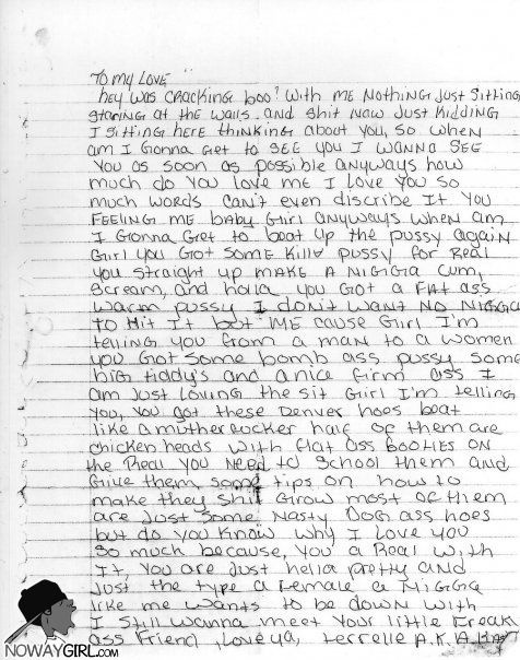 Ghetto love letter I guarantee you will laugh after reading this - love letters
