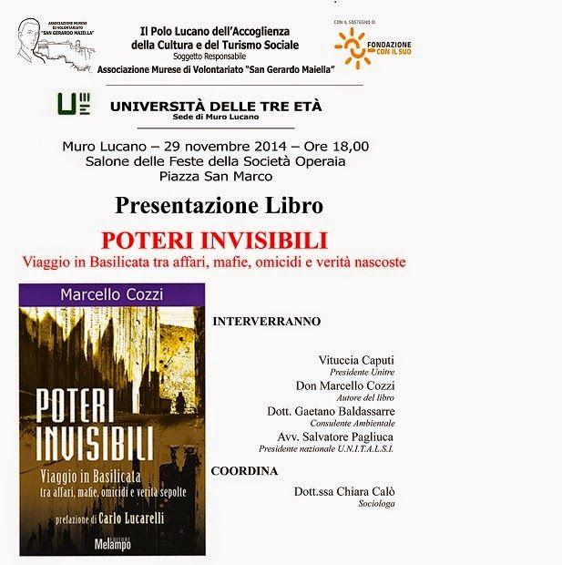 Unitre di Muro Lucano: Presentazione del libro - Poteri invisibili - saba...