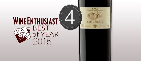 San Vicente 2011, the 4th best wine in the world according to Wine Enthusiast.