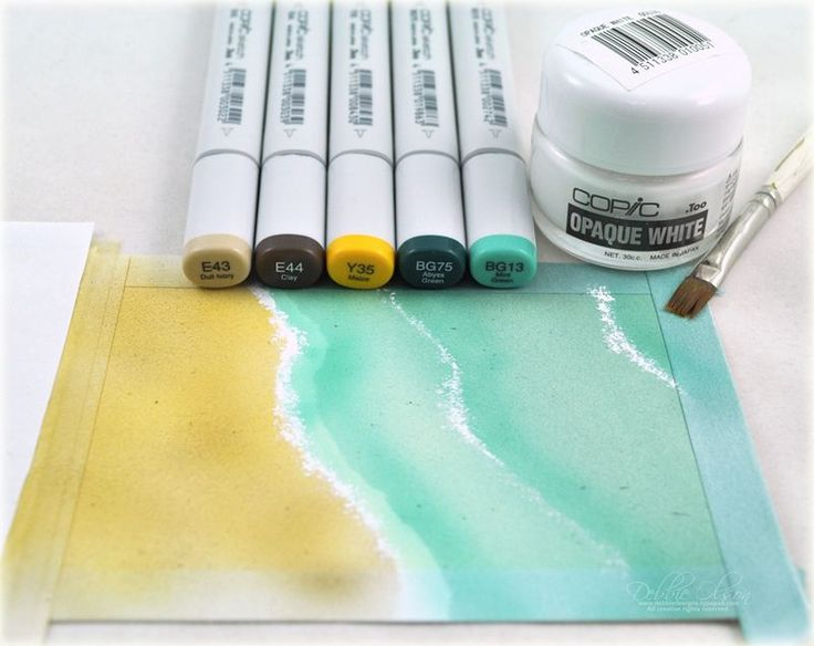 Debbie Olson shows how to create waves with Copic markers.