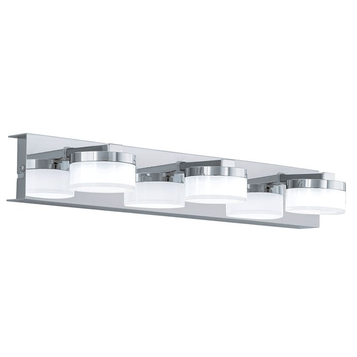 Gallery For Website The Romendo Light LED vanity light by Eglo Lighting is a simple yet modern vanity light The light features a stunning chrome backplate and fittings with