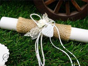 Picture of Προσκλητήρια γάμου λινάτσα