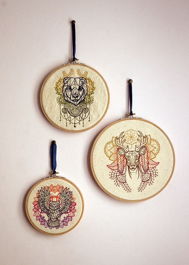 Obrazki haftowane - zestaw - Feltress - Dekoracje ścienne