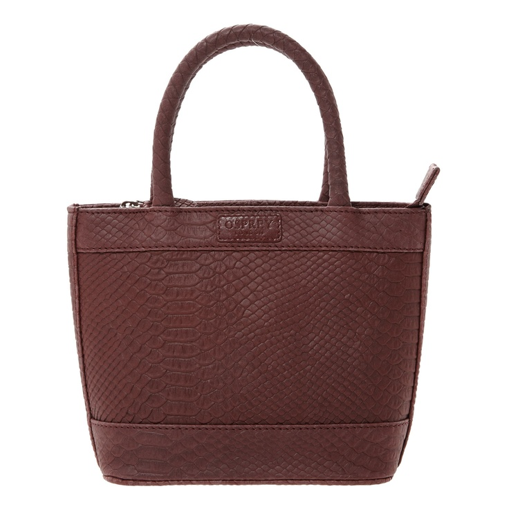 Osprey London Red Reptile Effect Tote Bag - TK Maxx
