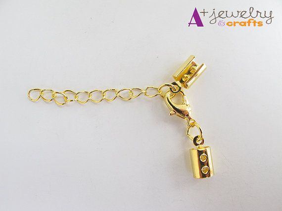 Clasp chain gold chain ends ends with chain by APlusJewelryCrafts