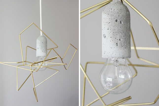 Geometric Wire Lampshade | 25 DIY Lighting Projects