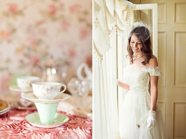 Vintage tea party themed bridal shower / Bradley James Photography