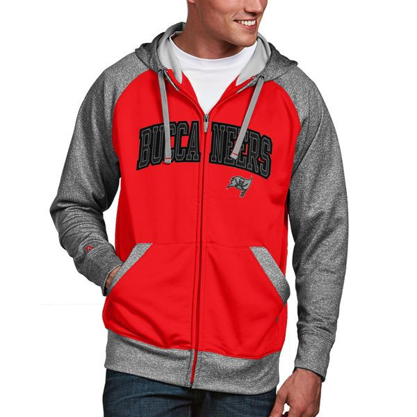 Tampa Bay Buccaneers Antigua Strategy Full Zip Hoodie