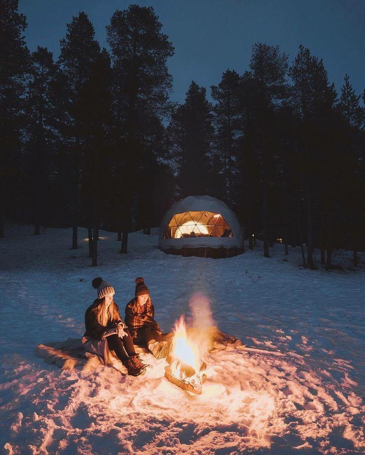 покажите пожалуйста картинки отдыхающих зимой у костра между