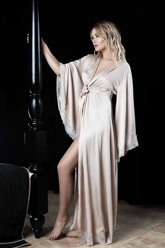 Floor length Robe Long Robes Mother of Bride Robe Robe Ankle Length Robe Long Bridesmaid Robe getting ready robes Floor Length Robes