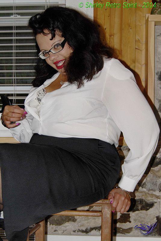 Classic sheer blouse & full slip