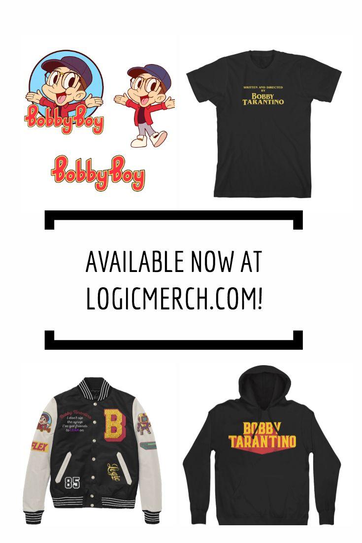 7e4302ab6ed Some new  Logic merch available online.  BobbyBoy  BobbyTarantino   VisionaryMusicGroup  VMG  merch  Clothingbrand  Hoodies  Jackets  Stickers   Shirts