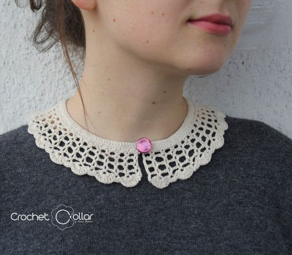 Casual Vintage Look Crochet Collar by CrochetCollars on Etsy