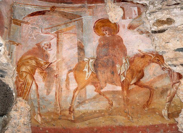 Santa Maria Foris Portas, Fuga in Egitto. Castelseprio, Varese.