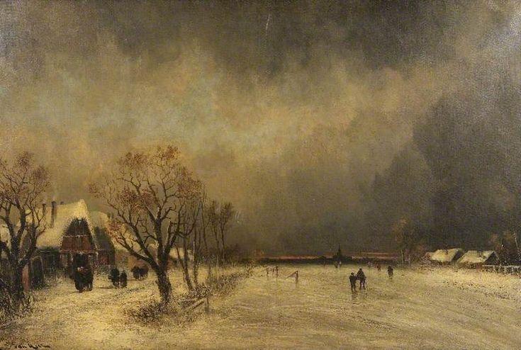 In the Grip of Winter  Joachim Hierschl-Minerbi (1834–1905)  Worcester City Museums
