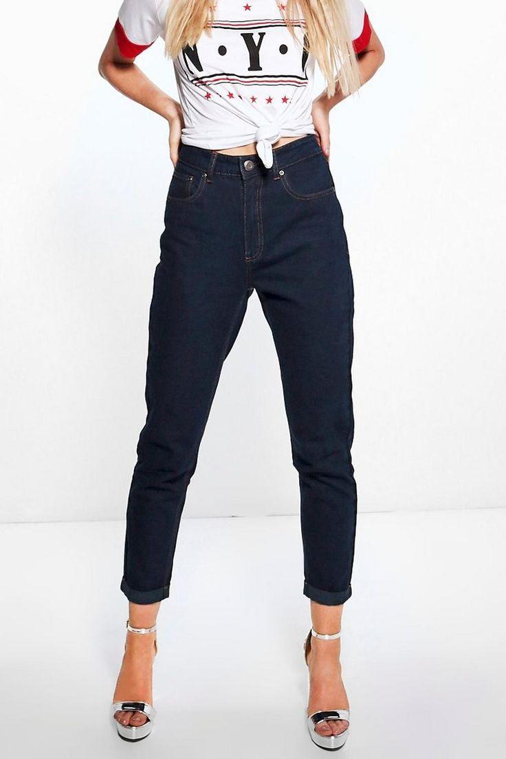 Hatty Jeans Taglio Maschile A Vita Alta