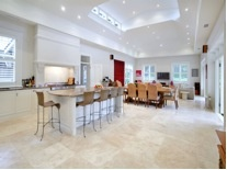 New family room with #travertine