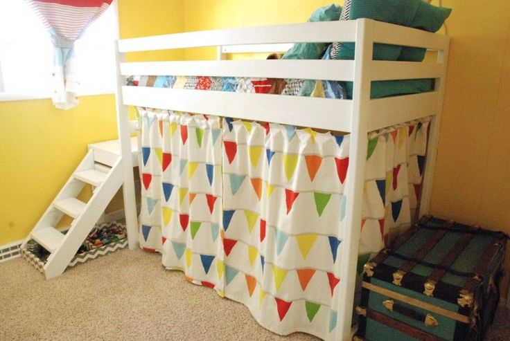 Good Looking Pictures Of Ikea Children Curtain For Kid Bedroom Decoration Ideas: Divine Picture Of Kid Bedroom Decoration Using Light Blue And Red Stripe Ikea Children Curtain Including Yellow Kid Room Wall Paint And Colorful Tent White Wood Kid Bunk Bed ~ fendhome.com Accessories Inspiration