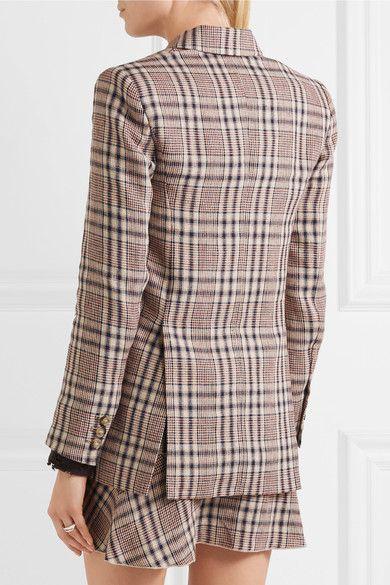 Étoile Isabel Marant - Janey Checked Linen Blazer - Beige - FR