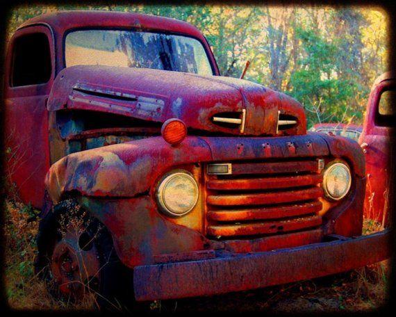 Bobby Joe  Rusty Old Truck  Old Ford Truck  by kellywarrenphotoart, $20.00