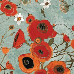 Fabric-living room pillows, Love Love this fabric, red, orange whimsy
