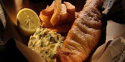 Fish and Chips with Homemade Tartare Sauce
