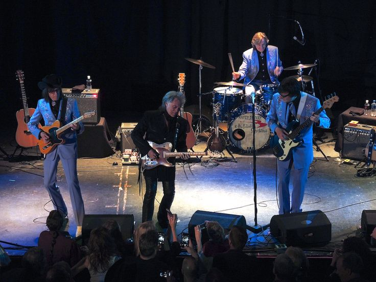Marty Stuart and His Fabulous Superlatives | Marty Stuart and His Fabulous Superlatives at Denver's Oriental Theater. Left to right: Kenny Vaughan, Marty Stuart, Harry Stinson, Chris Scruggs.